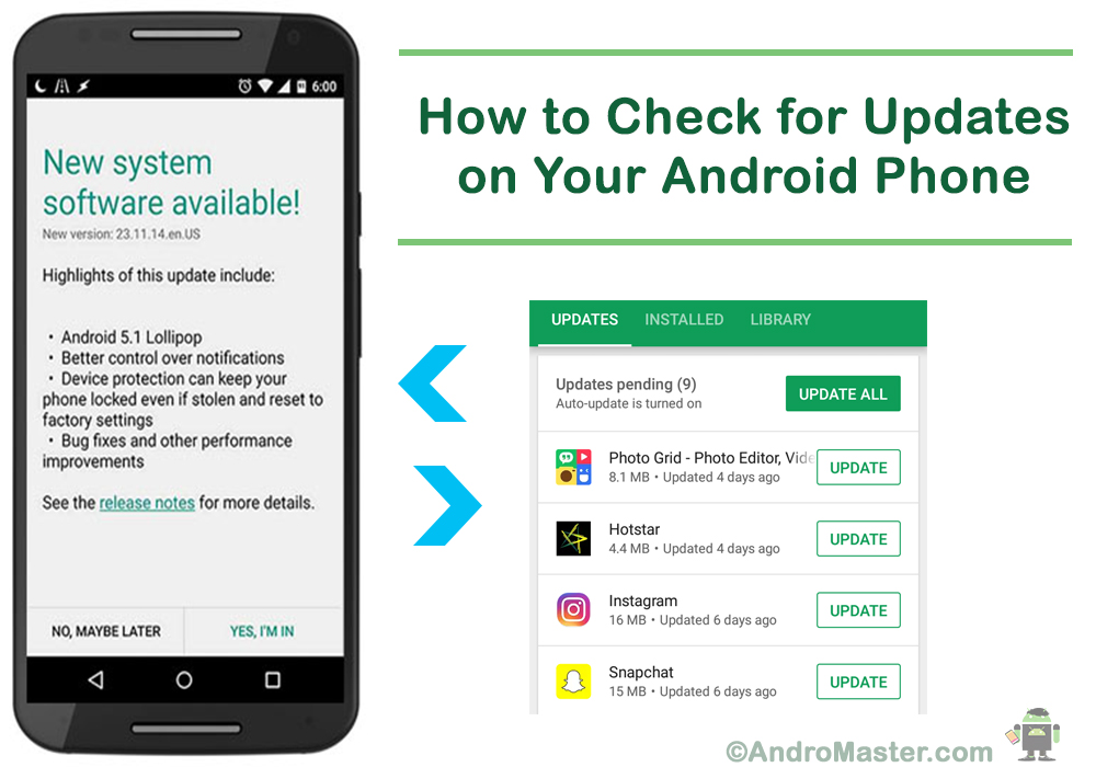 How To Check For Updates On Your Android Phone Andromaster
