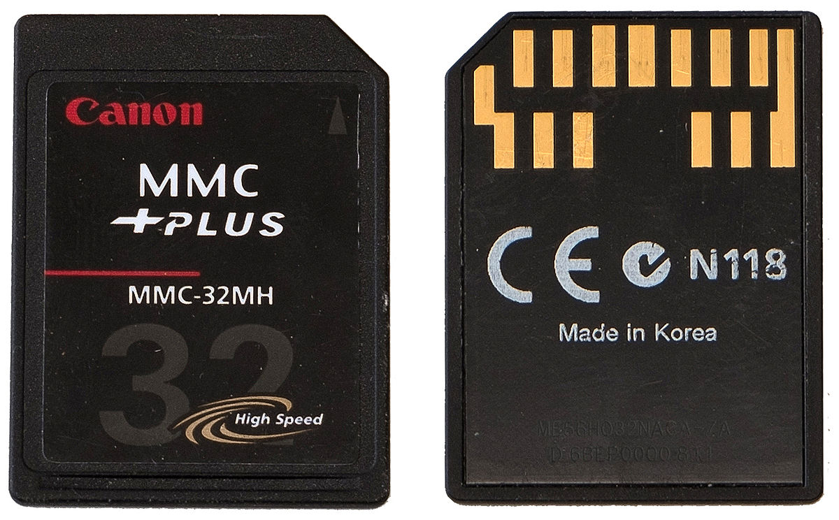 Types of memory cards MMC Card
