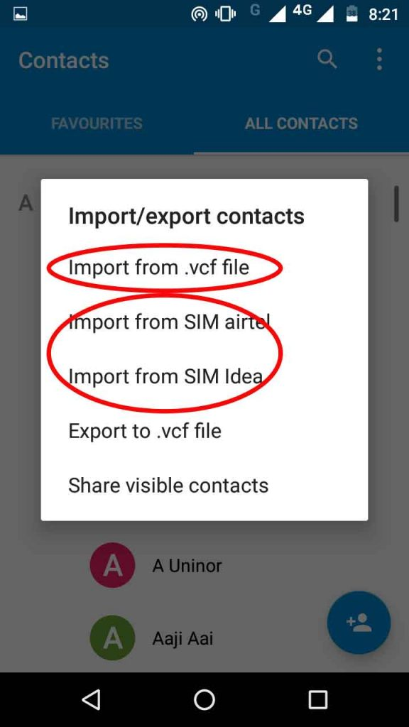 Import-export-contacts-in-android-phone