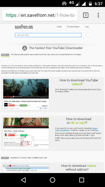 How to download youtube videos on android andromaster download youtube videos on android from savefrom andromaster ccuart Gallery